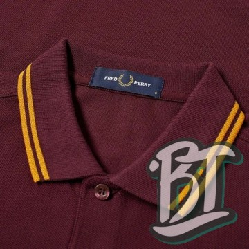 Fred Perry Original Twin Tipped Polo Shirt - M3600 J29 - Mahogany/Gold