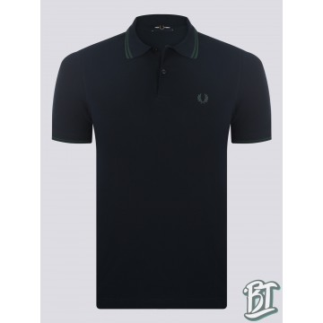 Fred Perry Original Twin Tipped Polo Shirt - M3600 J73 - Navy Blue Ivy