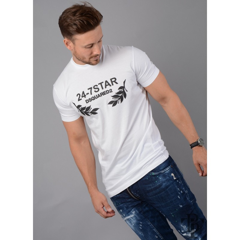 DSQUARED2  S74GD0306 24-7 Star T-Shirt
