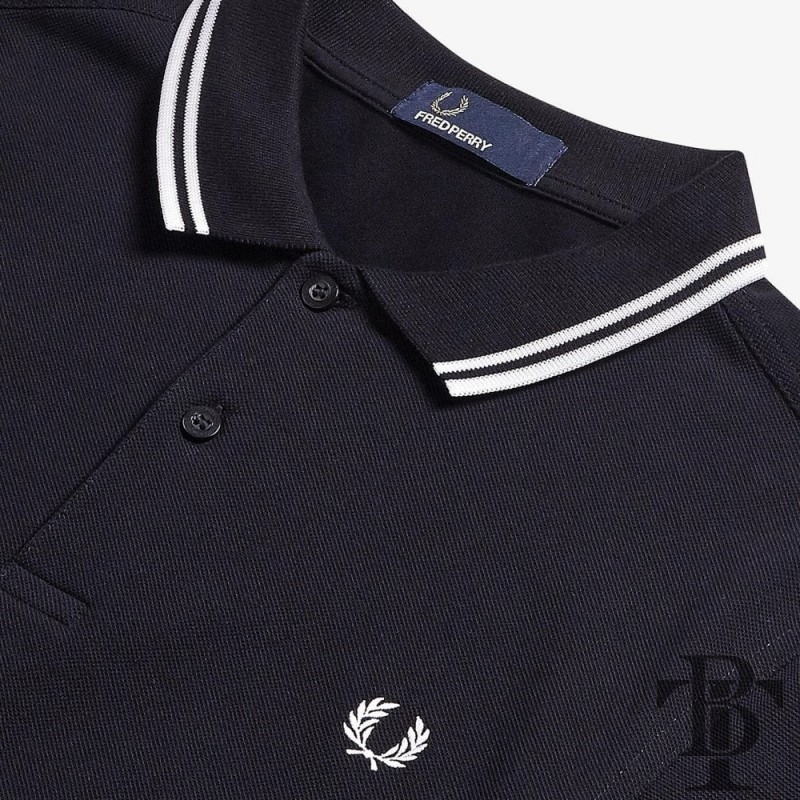 Fred Perry Original Twin Tipped Polo Shirt - M3600-238 - Dark Blue / White