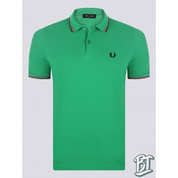 Fred Perry Original Twin Tipped Polo Shirt - M3600 330 - Green/Pink/Black