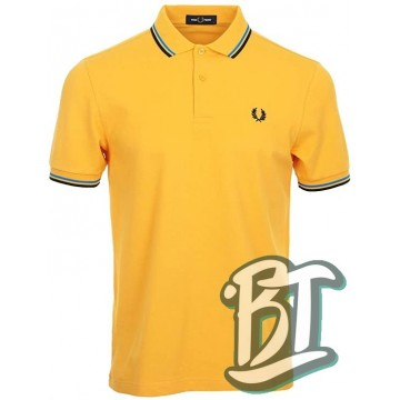 Fred Perry Original Twin Tipped Polo Shirt - M3600 J20 - Yellow/Blue/Black