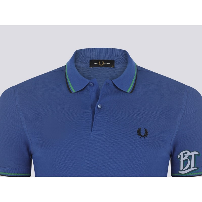 Fred Perry Original Twin Tipped Polo Shirt - M3600 J21 - Blue/Green/Black
